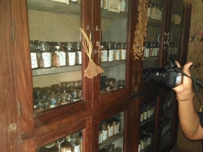 Koleksi benih di Bank Benih Navdanya